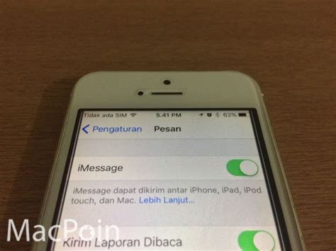 mengatasi error  gagal aktivasi imessage  iphone