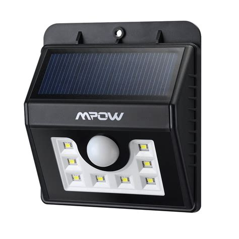 mpow bright 8 led solar powered wireless security light