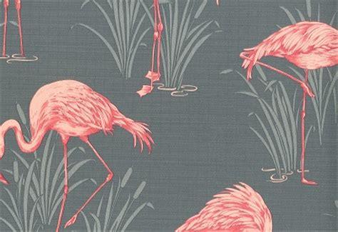flamingo wallpaper grey flamingo grey coral wallsorts