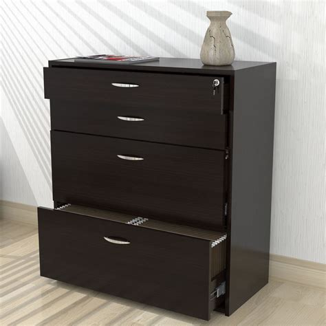 inval four drawer file storage cabinet locking system