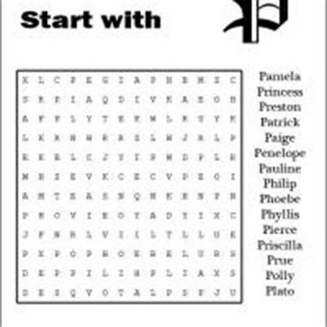 names that start with p names starting with p word search