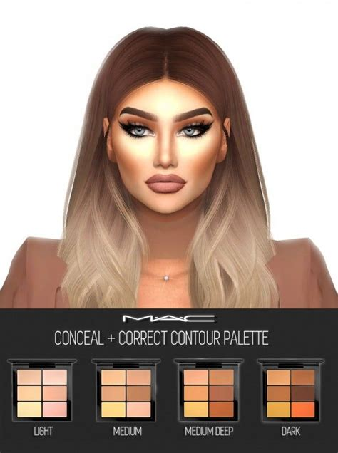 sims 4 cc hair maccosmetics 0 on sims macs and sims cc