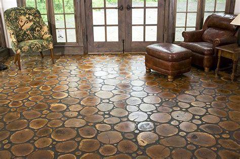 DIY Cross Cut Tree Slice Floors, Outdoors or In