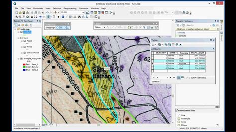 arcgis tutorial for geologists digitising a geological map in arcgis desktop 10 3 part 2