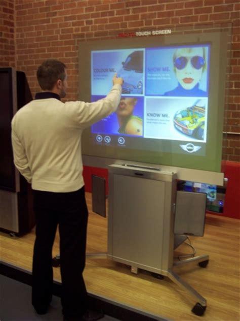 Proyektor Touchscreen ekrany dotykowe tylnej projekcjirear projection touch screens mkm display