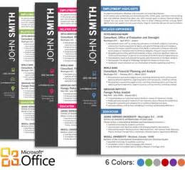 Microsoft Office Templates Cv by Office Resume Template Cover Letter Portfolio