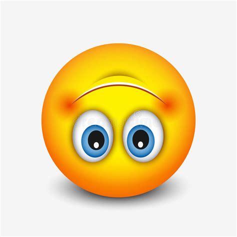 cute upside  face emoticon emoji vector