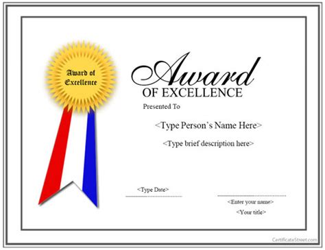 Award Certificate Template 14 Download In Psd Pdf Ribbon Award Template