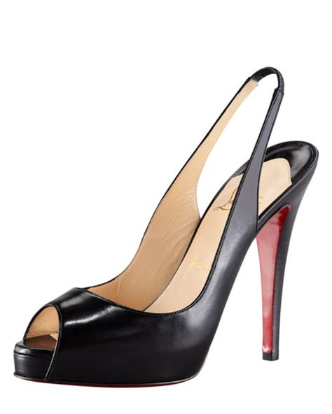 Christian Louboutin X Band Slingback Wedges by Christian Louboutin No Prive Leather Slingback Sole