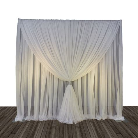 8 ft drop curtains economy 1 panel tone on tone curtain backdrop 8ft or 8ft 10ft
