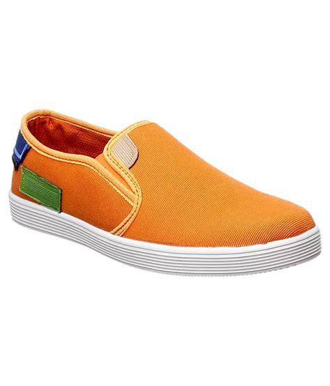 stylon orange canvas shoe shoes price in india buy stylon