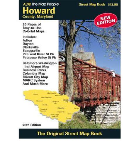 maryland map book howard county md atlas adc the map 9780875308012