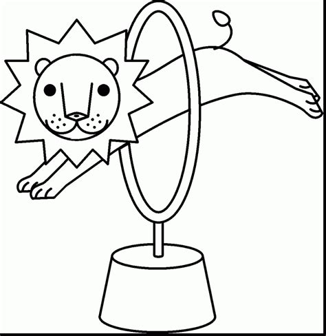 circus lion coloring pages carnival coloring pages coloringsuite com