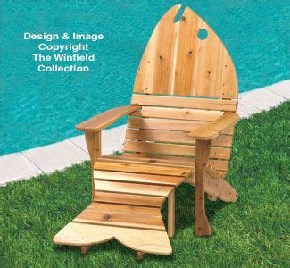 Adirondack Chairs Only by Adirondack Fish Chair Ottoman Plans This Fish Shaped