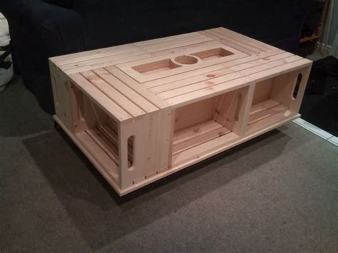 wine crate coffee table do it yourself ideas