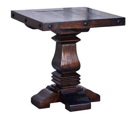 Pedestal End Table by Rustic Pedestal End Table Pedestal End Table Pedestal Side Table