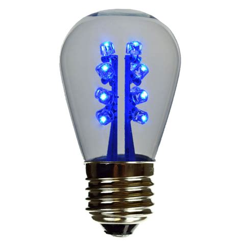 Led Blue Light Bulb Led S14 Light Bulb Medium Base Blue Led Clearglass