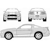 Com Blueprints &gt Voitures Ford Mustang Shelby GT500 2010