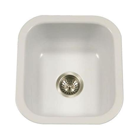 houzer porcela series undermount porcelain enamel steel 16