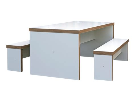 office benches block white canteen table and benches canteen furniture