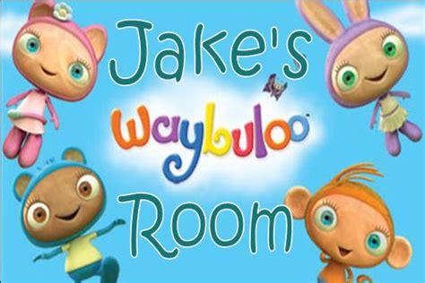 waybuloo wall stickers personalised waybuloo door plaque boy