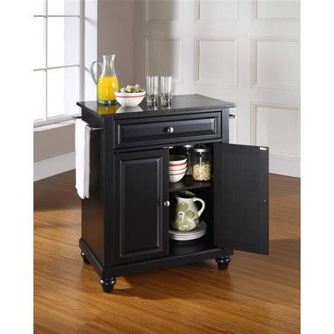 crosley furniture kitchen cart crosley furniture cambridge solid black granite top