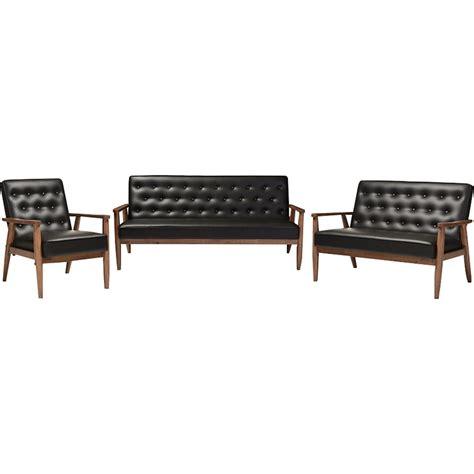calvin button 3 piece living room set free shipping today overstock com 17079828 sorrento 3 piece sofa set button tufted black dcg stores