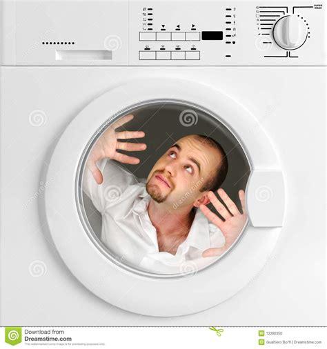 Pewangi Laundry Per Liter portrait of inside washing machine stock photo