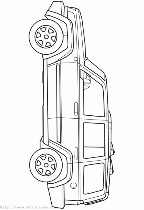 free coloring pages of suv drawing