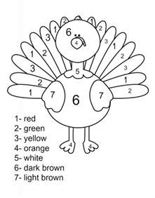 turkey color by number 130 thanksgiving coloring pages for the suburban