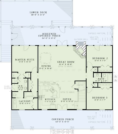 Main Level Floor Plans | texas style country house plans home design 153 1313
