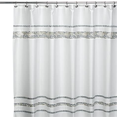 96 inch shower curtain buy croscill 174 spa tile 72 inch x 96 inch shower curtain