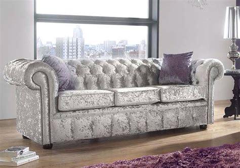 Silver Velvet Chesterfield Designersofas4u Silver Chesterfield Sofa
