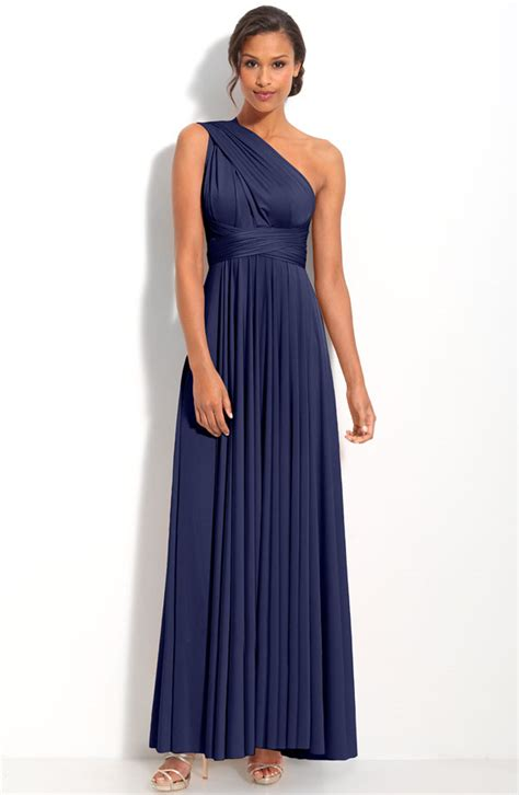 Navy Blue Bridesmaid Dress by One Shoulder Navy Blue Bridesmaid Dresses To Inspire You