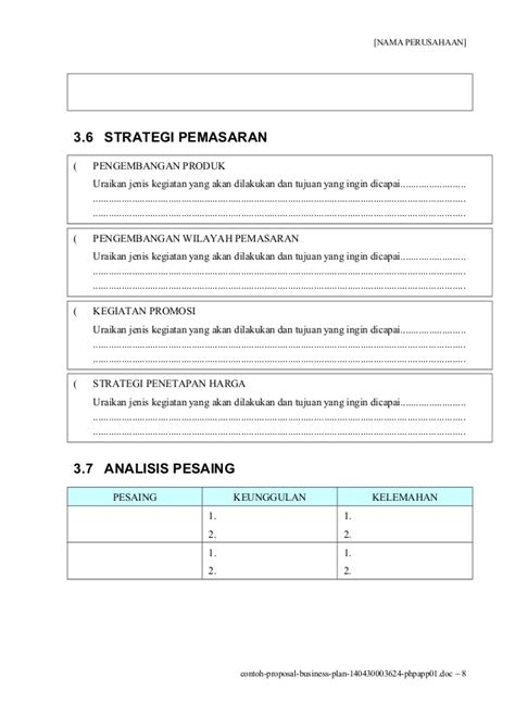 format bisnis plan doc contoh business plan doc downlllll
