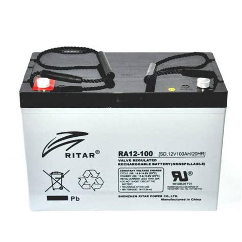 Baterai Ritar caravansplus ritar 12v 100ah agm cycle battery ra12