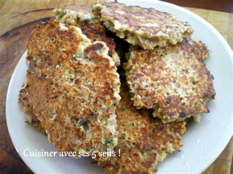 cuisiner d avoine galettes de flocons d avoine au thon cuisiner avec ses 5