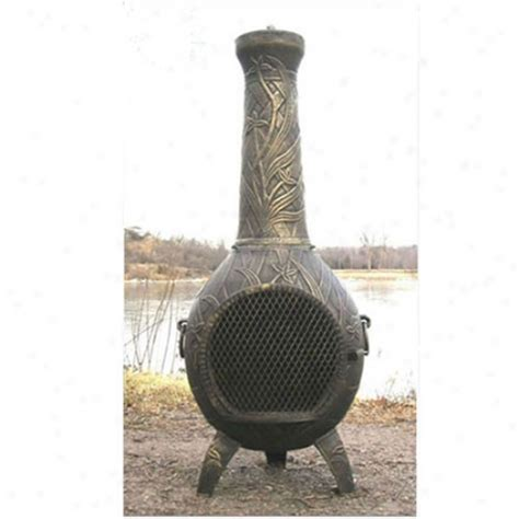Aluminum Cast Chiminea Sense Black Steel Infrared Pole Patio Heater