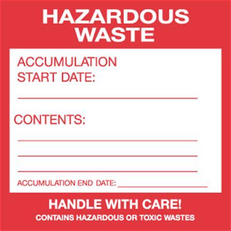 printable hazardous material label hazardous waste label 6 quot x 6 quot thermalabel preprinted