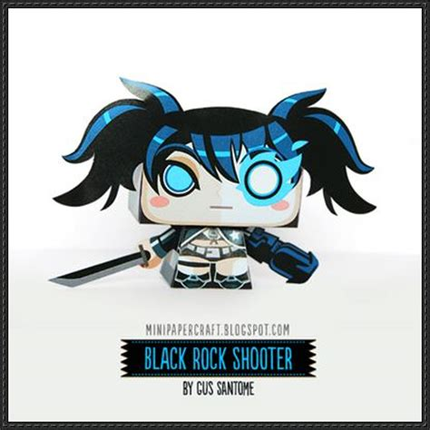 Black Rock Shooter Papercraft - black rock shooter papercraftsquare free papercraft