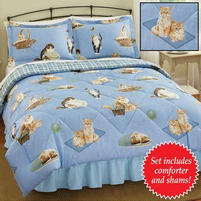 Kitten Bedding Set Reversible Cat Comforter Set From Collections Etc