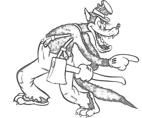 coloring page of big bad wolf big bad wolf scary nintendo wee