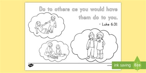 Luke 6 Coloring Pages by Luke 6 31 Coloring Page Bible Memory Memory Verse Year