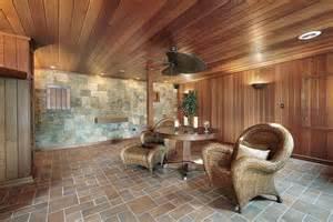 basement wood paneling beautifully finished basement with tiled floor