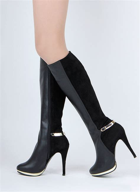 size glam suede leather knee boots dash by