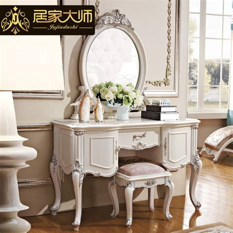 solid wood white dresser with mirror new french classical bedroom furniture girls dresser
