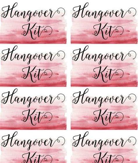 printable hangover kit tags hangover kit wedding label label templates wedding