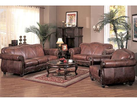leather livingroom set tan leather living room set modern style home design ideas