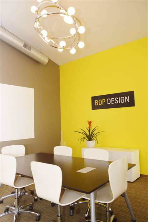 conference room  idea paint white board bright yellow