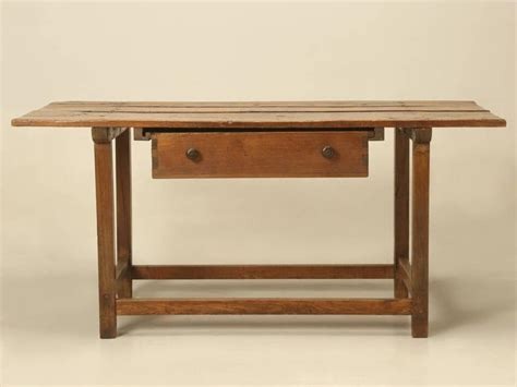 antique french work table of kitchen island circa 1700s